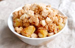 Crumble de pommes des Hautes Alpes vegan